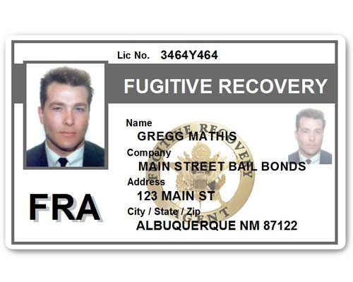 Fugitive Recovery PVC ID Card C518PVC in Grey