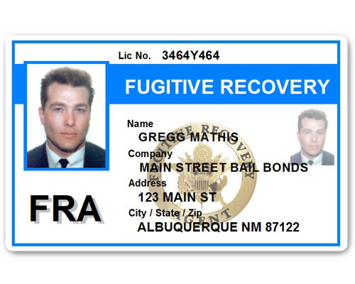 Fugitive Recovery PVC ID Card C518PVC in Light Blue
