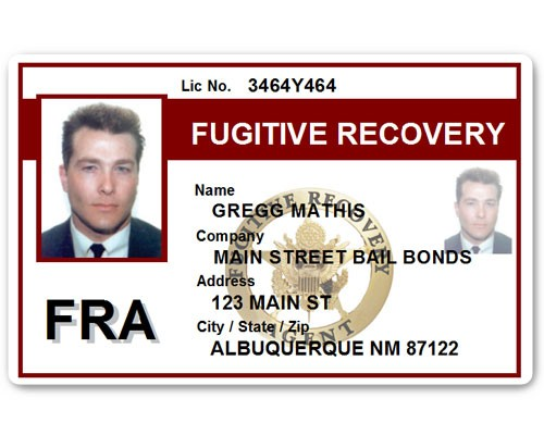 Fugitive Recovery PVC ID Card C518PVC in Maroon