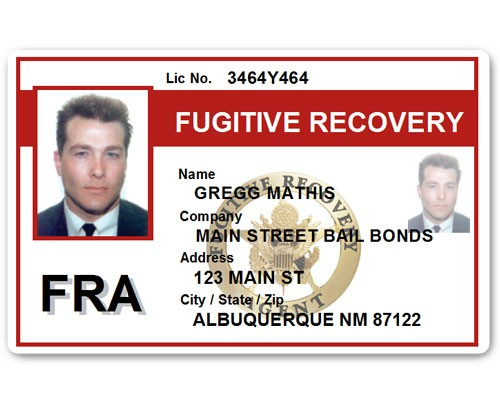 Fugitive Recovery PVC ID Card C518PVC in Red