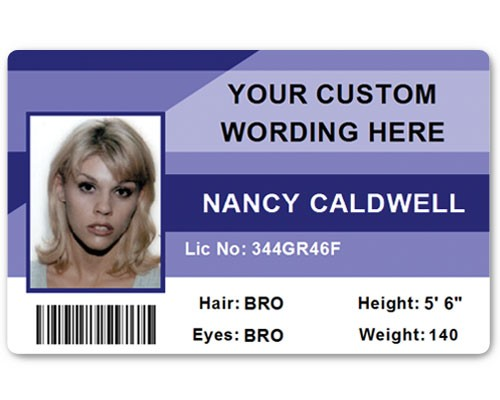 Corporate PVC ID Style #1 in Blue