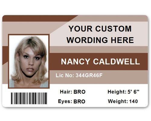 Corporate PVC ID Style #1 in Brown