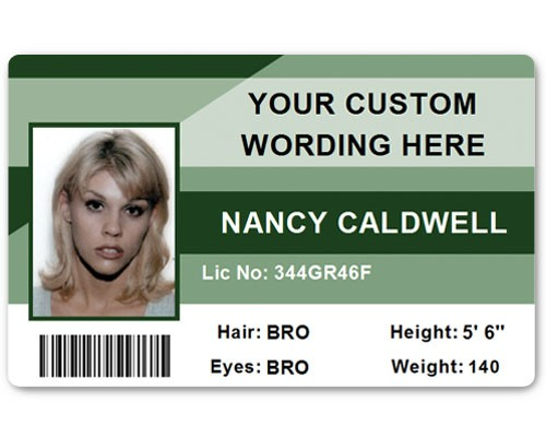 Corporate PVC ID Style #1 in Green