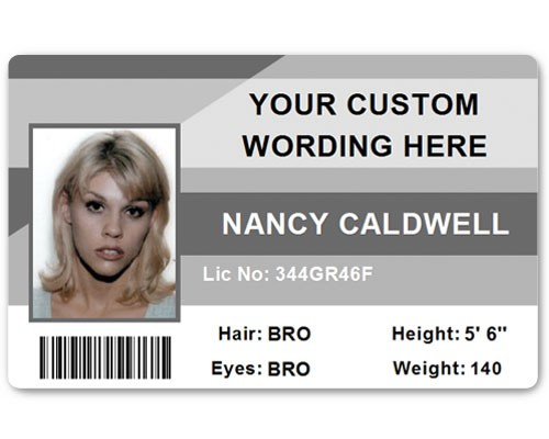 Corporate PVC ID Style #1 in Grey