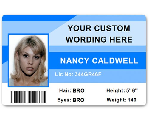 Corporate PVC ID Style #1 in Light Blue