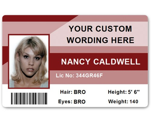 Corporate PVC ID Style #1 in Maroon