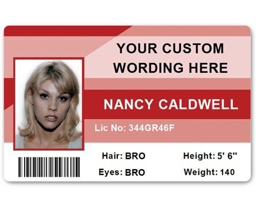 Corporate PVC ID Style #1 in Red