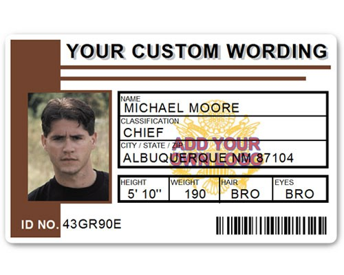 Corporate PVC ID Style #2 in Brown