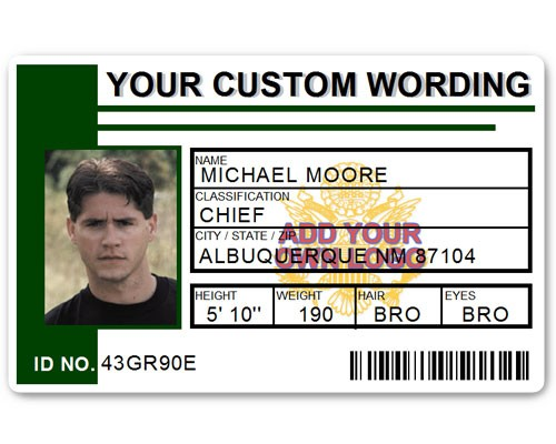 Corporate PVC ID Style #2 in Green