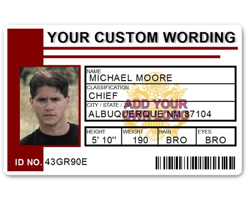 Corporate PVC ID Style #2 in Maroon