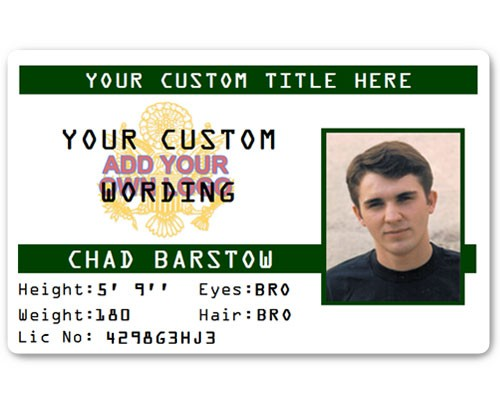 Corporate PVC ID Style #3 in Green