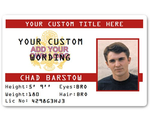Corporate PVC ID Style #3 in Red