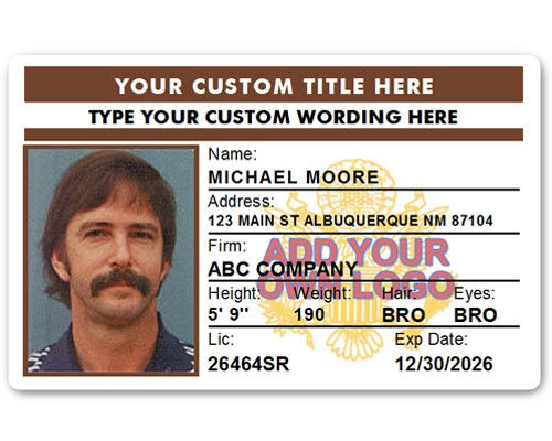Corporate PVC ID Style #4 in Brown