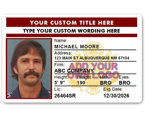 Corporate PVC ID Style #4 in Maroon