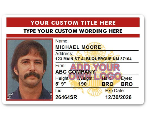 Corporate PVC ID Style #4 in Red