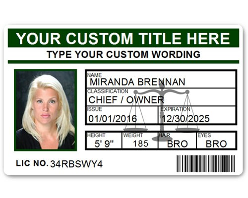 Corporate PVC ID Style #5 in Green