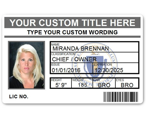 Corporate PVC ID Style #5 in Grey