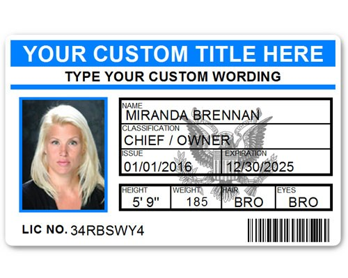 Corporate PVC ID Style #5 in Light Blue