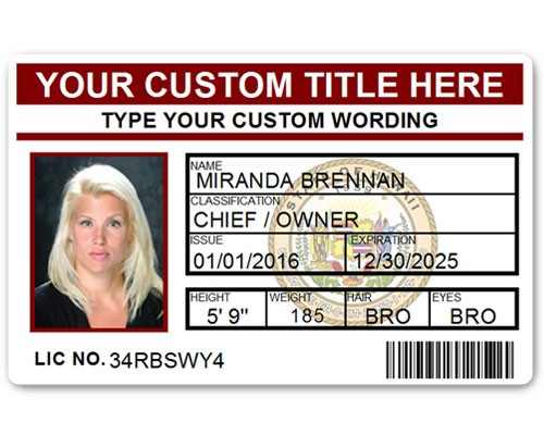 Corporate PVC ID Style #5 in Maroon