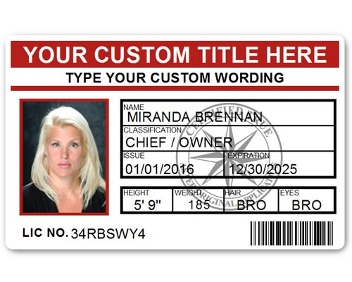Corporate PVC ID Style #5 in Red