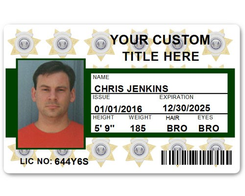 Corporate PVC ID Style #6 in Green
