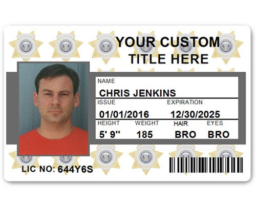 Corporate PVC ID Style #6 in Grey