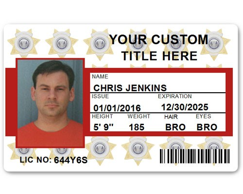 Corporate PVC ID Style #6 in Red
