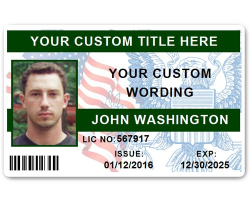 Corporate PVC ID Style #7 in Green