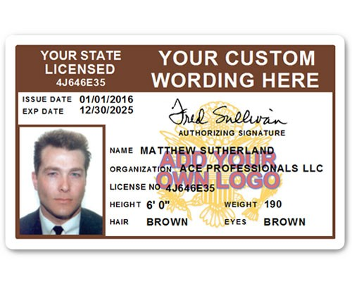 Corporate PVC ID Style #8 in Brown
