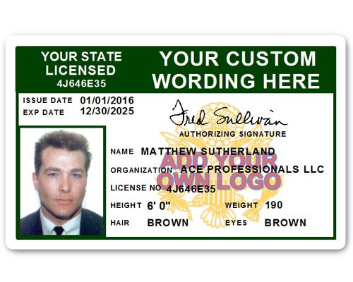 Corporate PVC ID Style #8 in Green