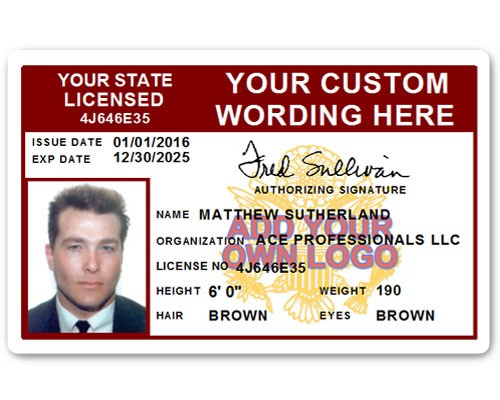 Corporate PVC ID Style #8 in Maroon