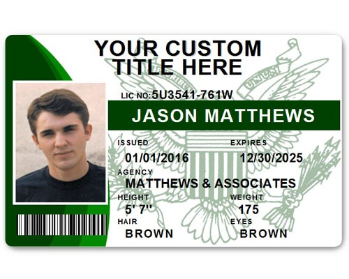 Corporate PVC ID Style #9 in Green