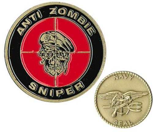 Anti Zombie Sniper Challenge Coin