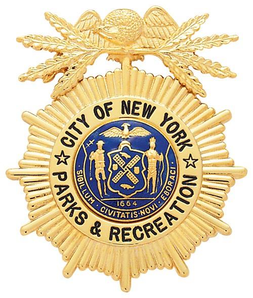 2.625 inch Eagle Top Sunburst Smith & Warren Badge E129A