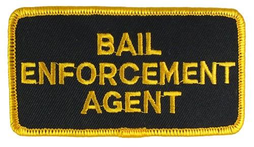 Bail Enforcement Agent Hat or Jacket Patch (Gold on Black)