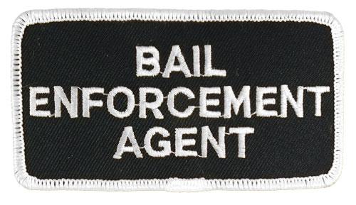 Bail Enforcement Agent Hat or Jacket Patch (White on Black)
