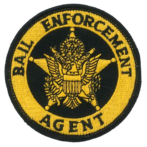 Bail Enforcement Agent Badge Patch in Gold
