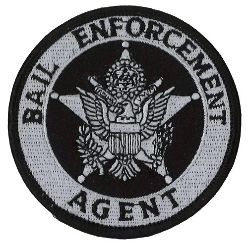 Bail Enforcement Agent Badge Patch in Silver