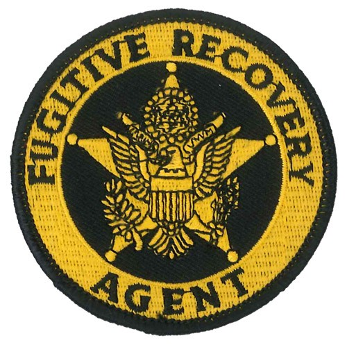 Fugitive Recovery Agent Badge Patch in Gold