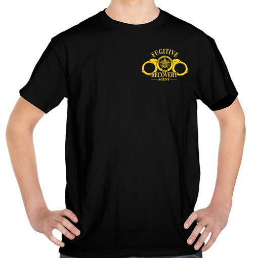Fugitive Recovery Agent T-Shirt No.5 (front view)
