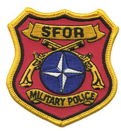 SFOR Military Police Patch