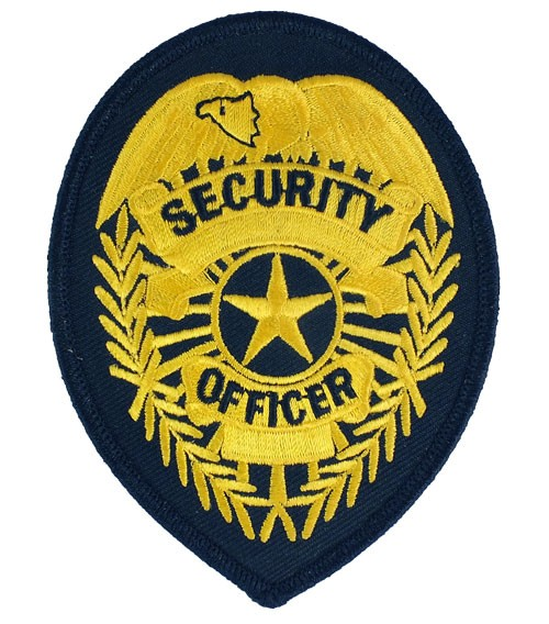 Security Officer Badge Patch (Gold on Navy)