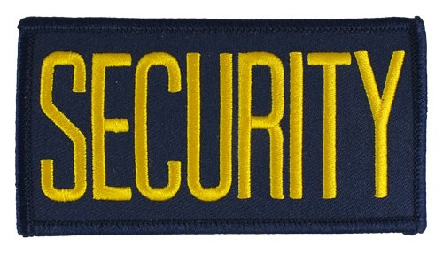 Small Security Hat or Jacket Patch (Gold on Navy)