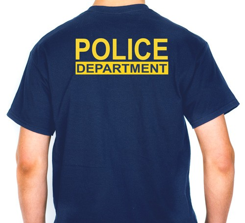 Police Department T-Shirt (back view)