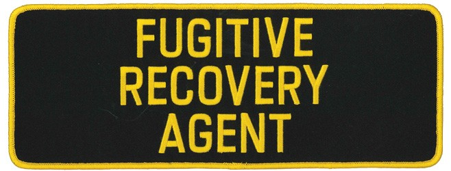 Large Fugitive Recovery Agent Patch in Gold