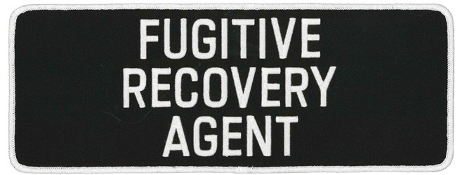 Large Fugitive Recovery Agent Patch in White