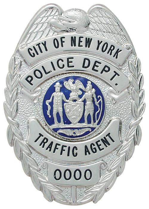 3.125 inch Eagle Top Smith & Warren Police Badge E435
