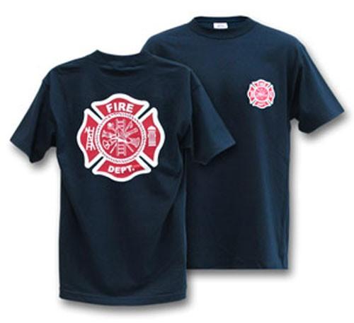 Fire Dept. Navy T-Shirt