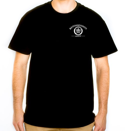 Repossession Agent T-Shirt (front view)