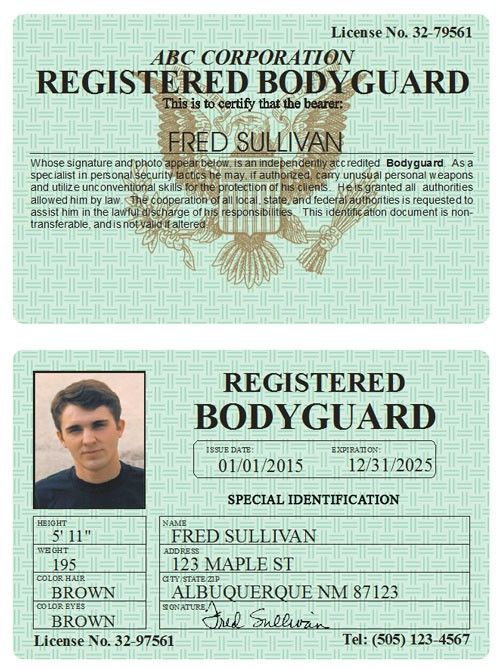Registered Bodyguard Classic Folio